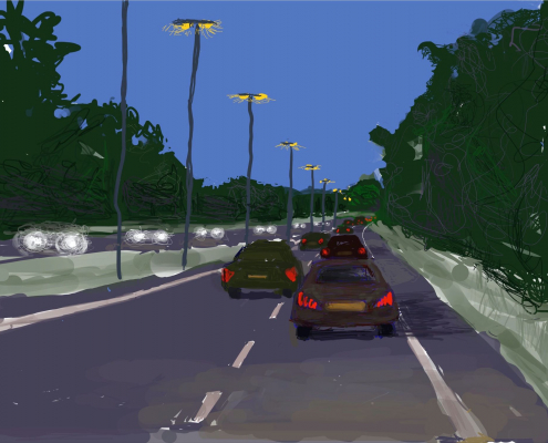 The Blue Hour, Almost | On the Way Home 05 (945) - iPad