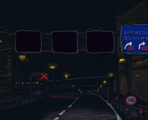 Zwarte Nacht | On the Way Home 06 (946) - iPhone